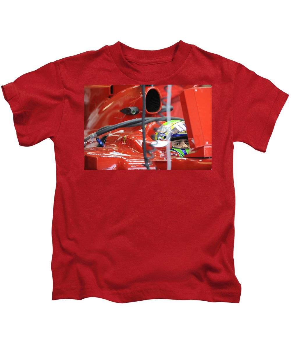 Formula One Kids T-Shirt featuring the photograph F1 Driver Felipe Massa by Rafa Rivas