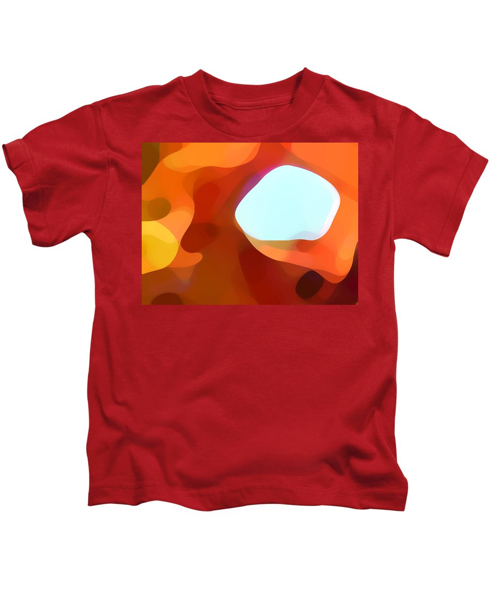 Abstract Kids T-Shirt featuring the painting Fall Passage by Amy Vangsgard