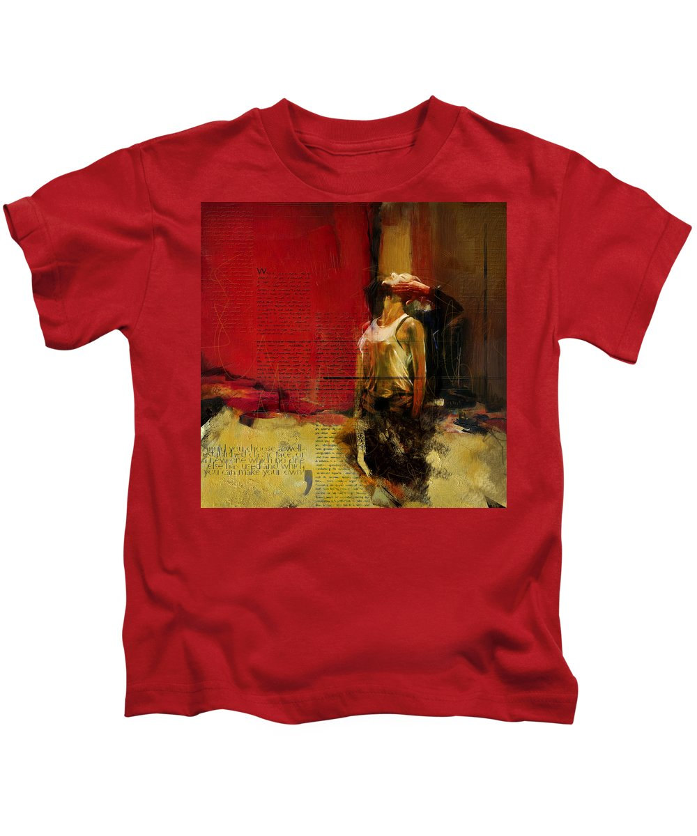 Women Kids T-Shirt featuring the painting Falling In Love by Corporate Art Task Force
