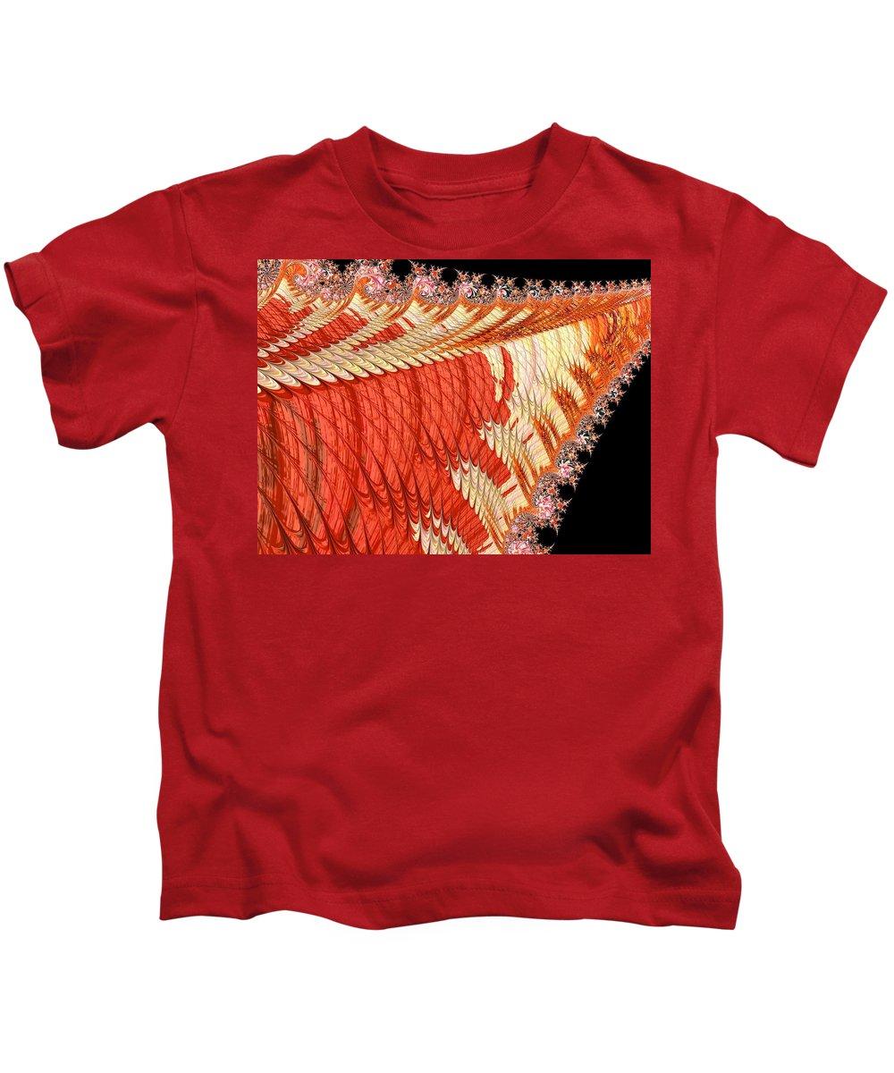 Abstract Kids T-Shirt featuring the photograph Fantasia Orange by Barbara Zahno