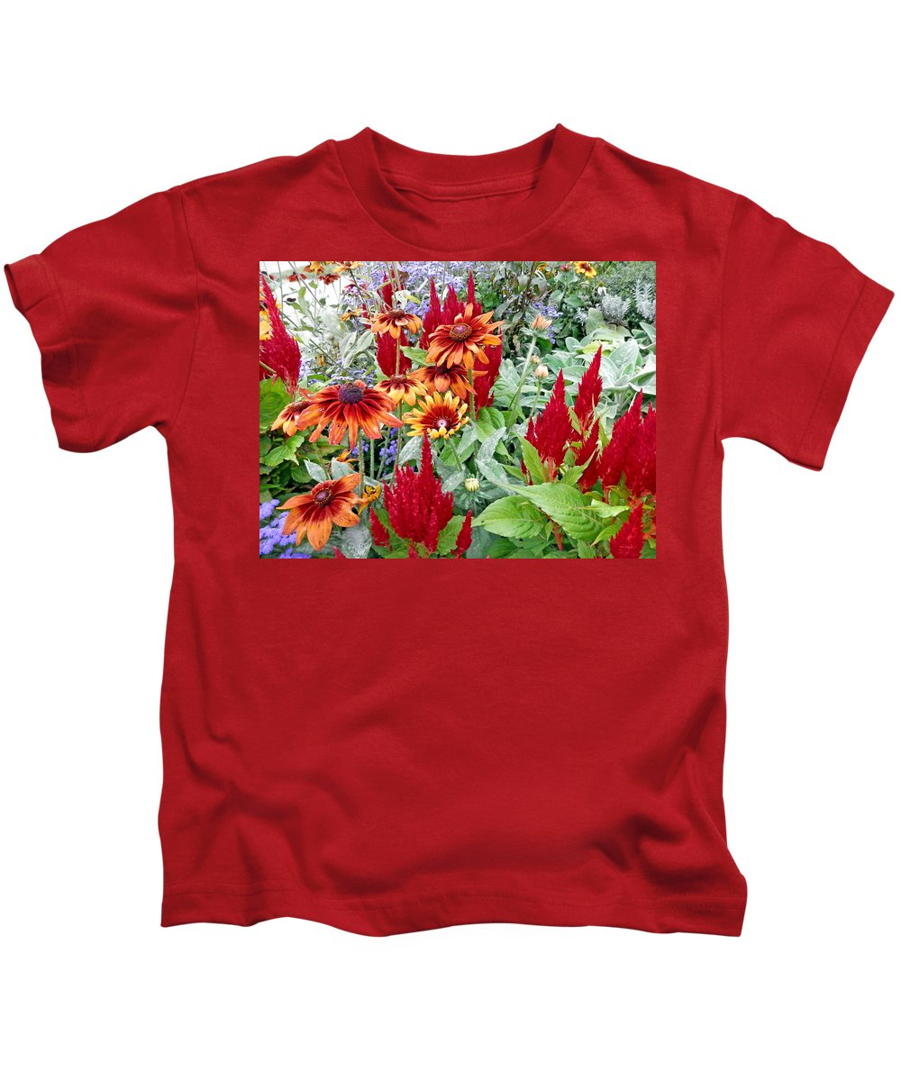 Duane Mccullough Kids T-Shirt featuring the photograph Flowers Galore by Duane McCullough