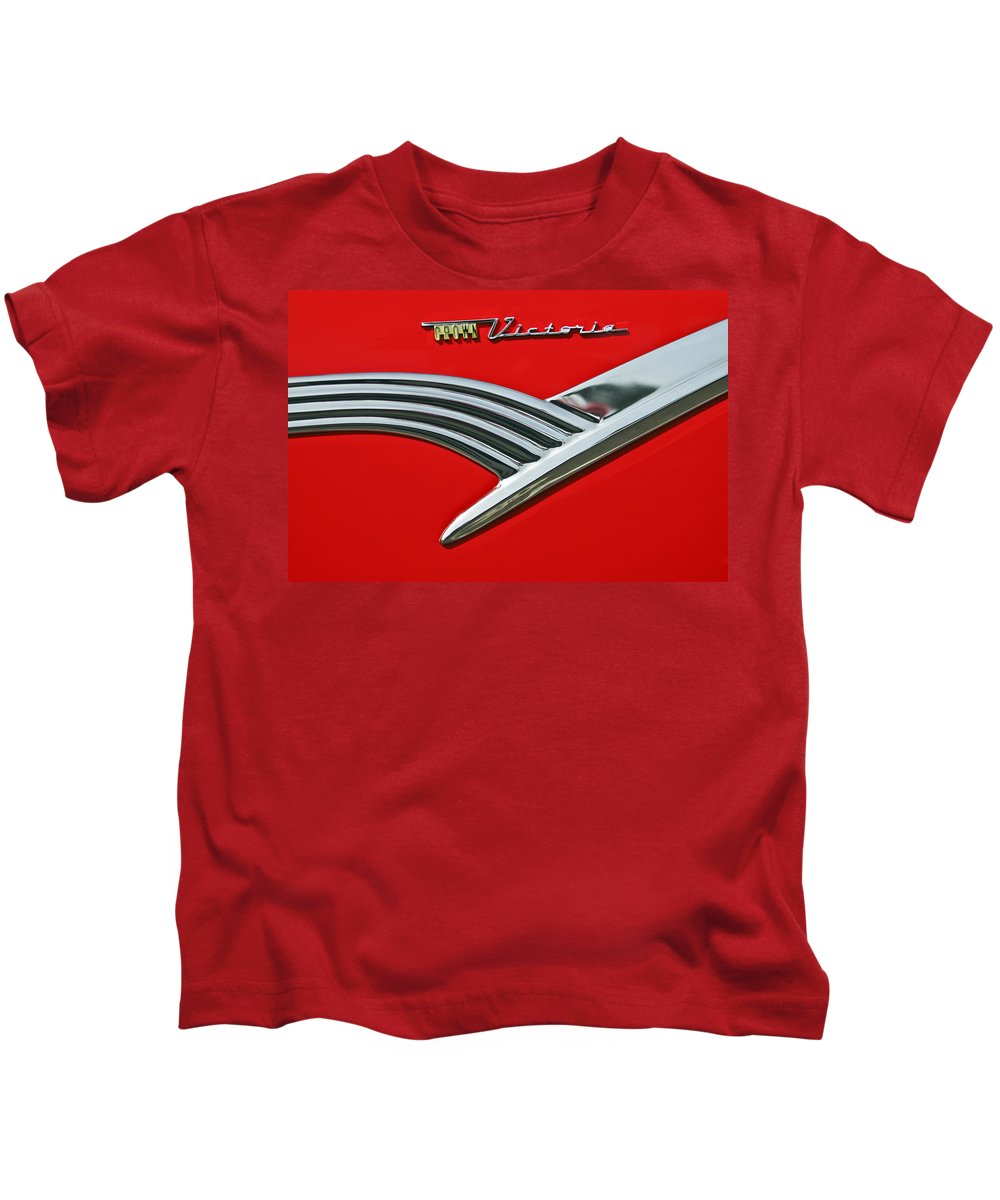 Car Kids T-Shirt featuring the photograph Ford Crown Victoria Emblem by Jill Reger