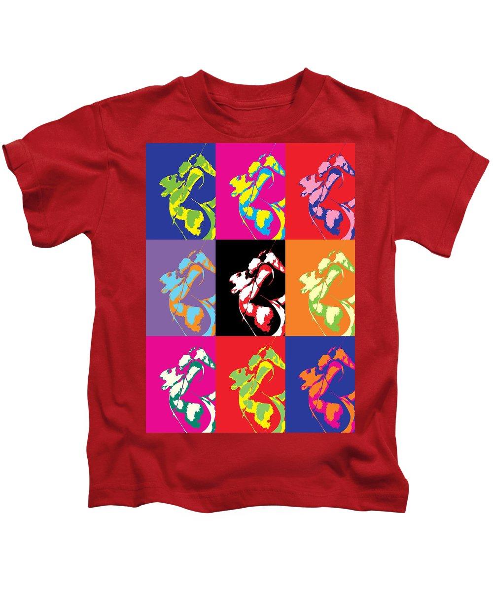 Freddie Mercury Queen Kids T-Shirt featuring the mixed media Freddie Mercury Pop Art by Dan Sproul