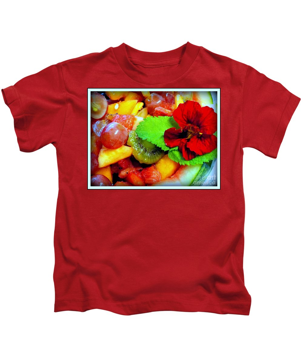 Nasturtium Kids T-Shirt featuring the photograph Fruit Salad by Rebecca Malo