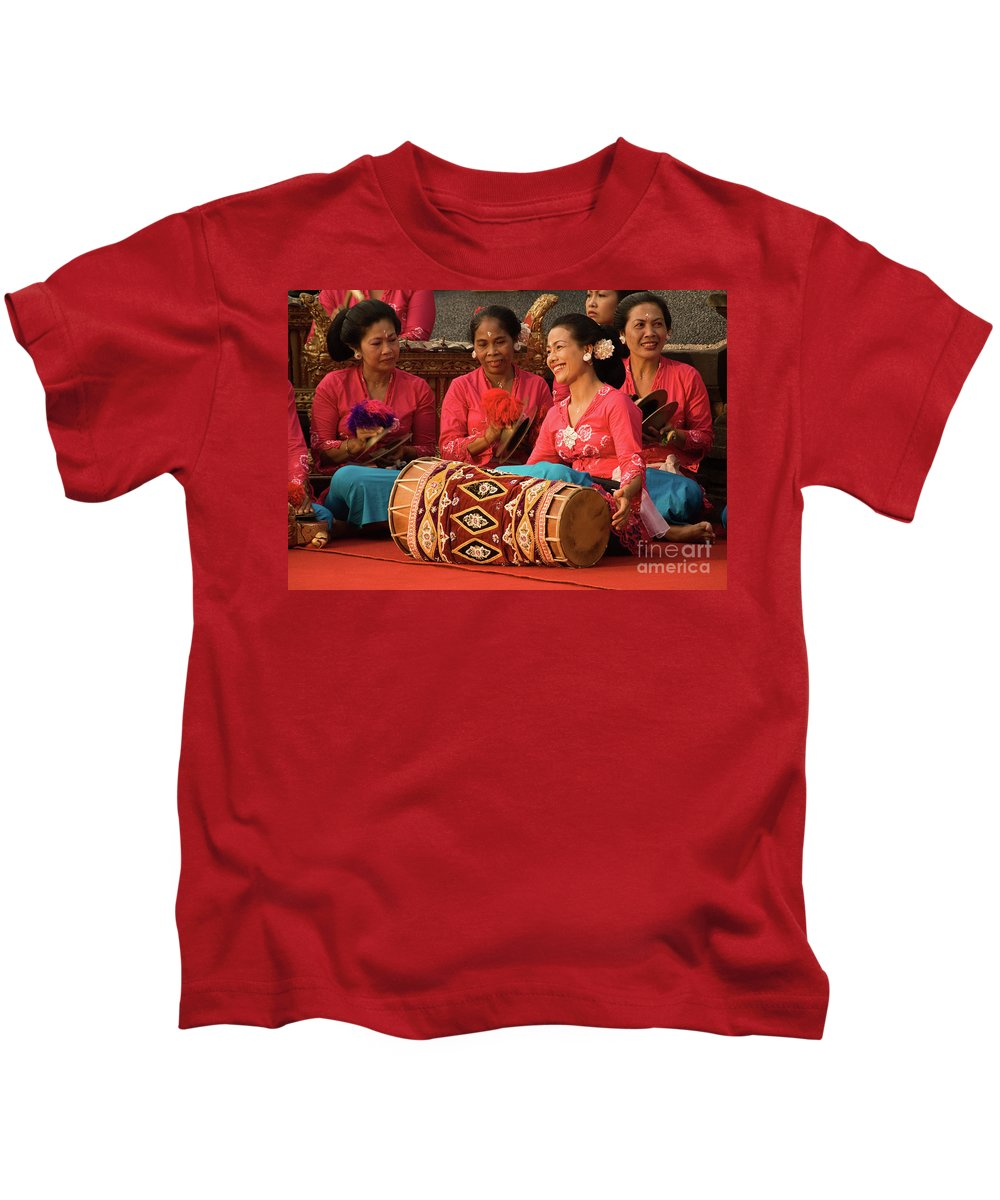 Indonesia Kids T-Shirt featuring the photograph Gamelan 02 by Rick Piper Photography