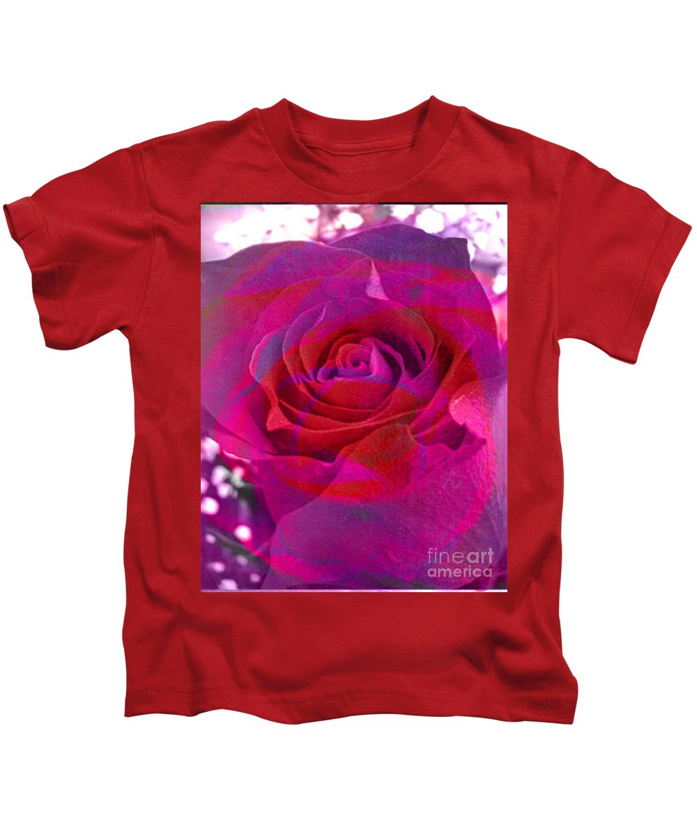 Digital Image Kids T-Shirt featuring the digital art Gift Of The Heart by Yael VanGruber