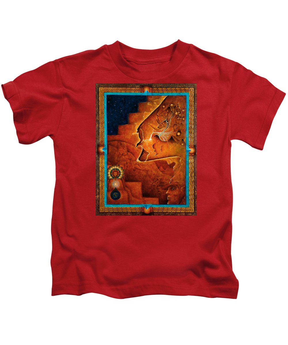 Native American Kids T-Shirt featuring the painting Gifts Of The Spirit by Kevin Chasing Wolf Hutchins