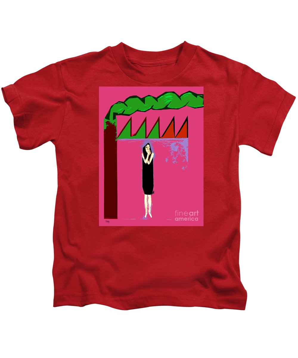 Global Warming Kids T-Shirt featuring the painting Global Warming by Patrick J Murphy