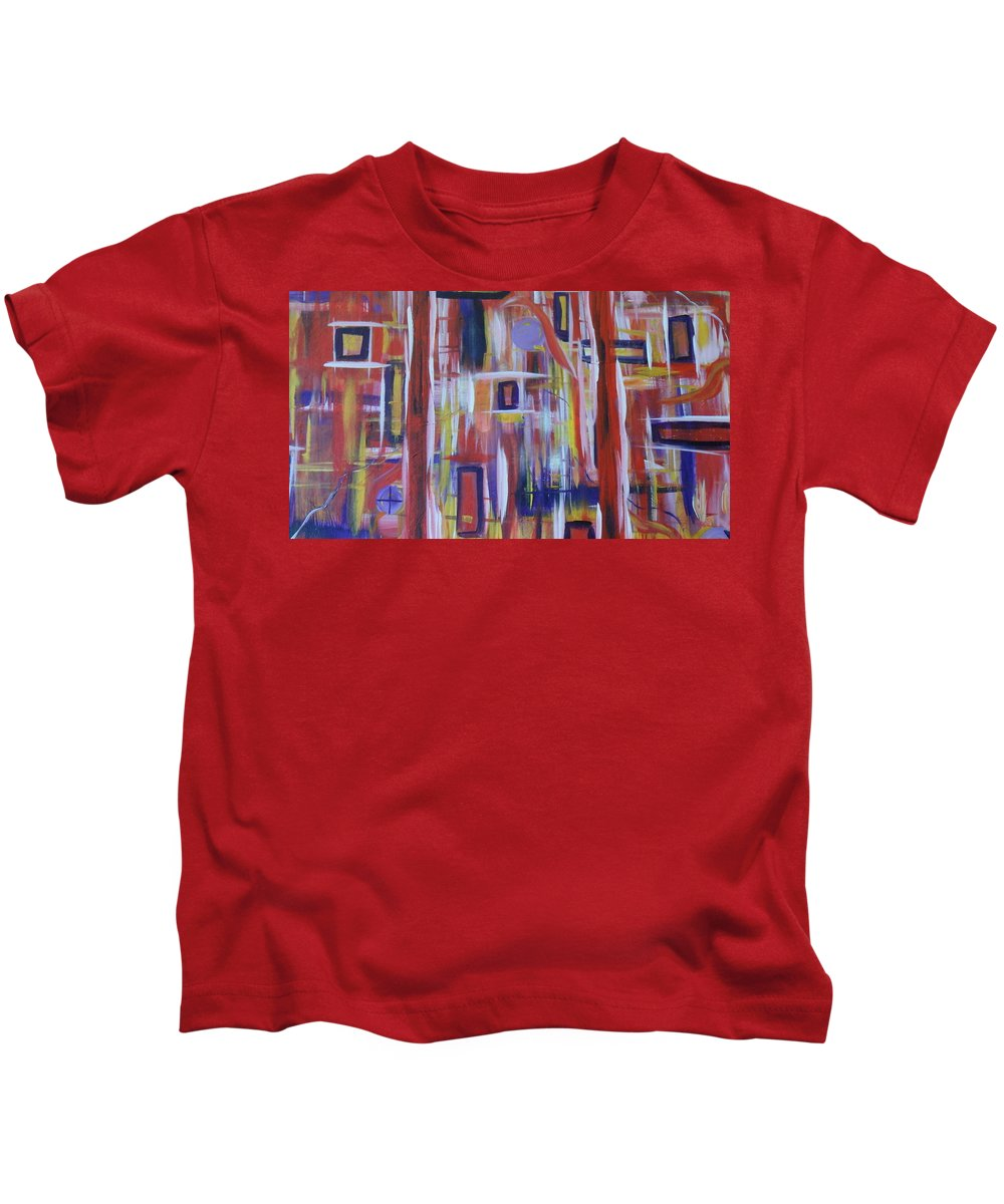 Large Kids T-Shirt featuring the painting Glorious by Soraya Silvestri