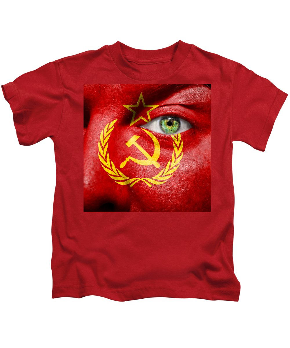 Art Kids T-Shirt featuring the photograph Go Ussr by Semmick Photo