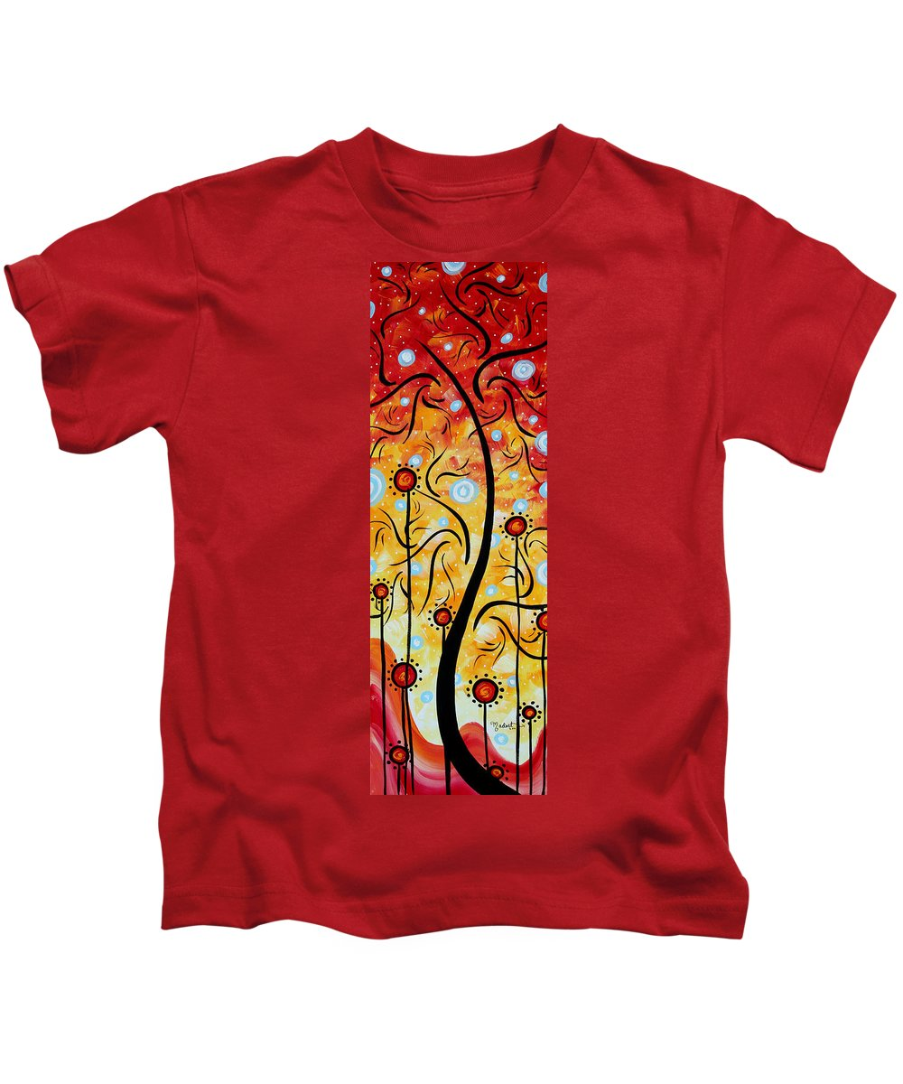 Painting Kids T-Shirt featuring the painting Happiness By Madart by Megan Duncanson