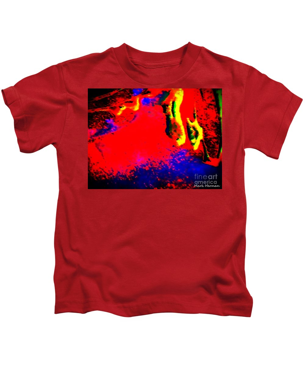 Bright Colors Kids T-Shirt featuring the painting Hellinois by Mark Herman