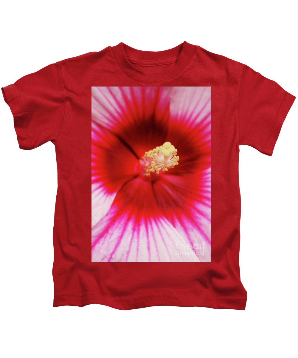 Pink Kids T-Shirt featuring the photograph Hibiscus by Kathleen Struckle