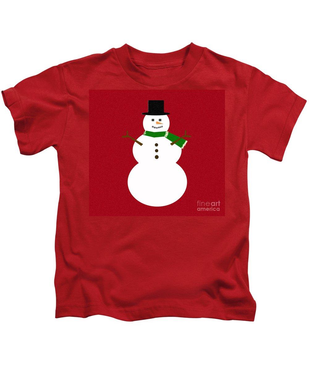 Christmas Kids T-Shirt featuring the digital art Holiday Hugs by Amanda Barcon