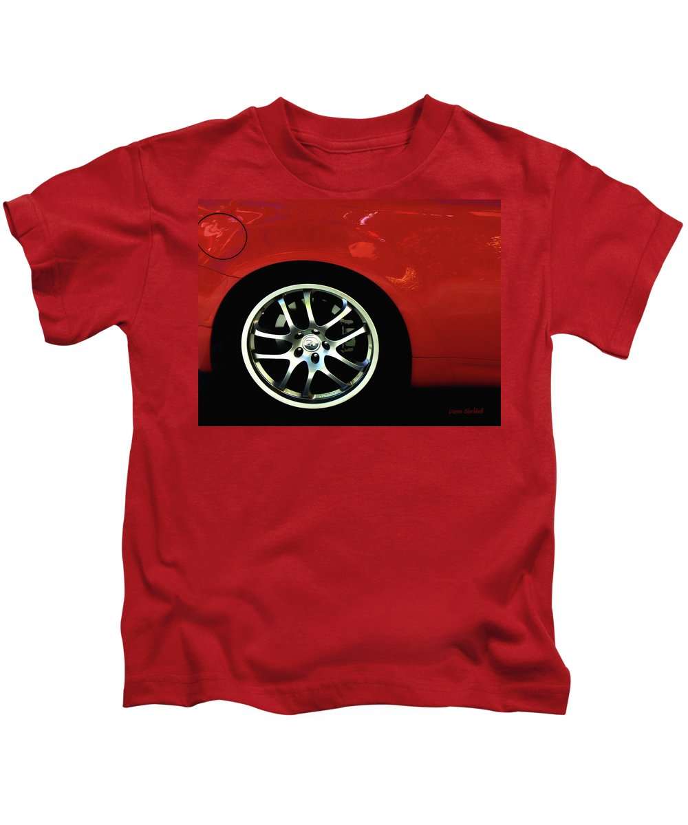 Car Kids T-Shirt featuring the photograph Hot Car by Donna Blackhall