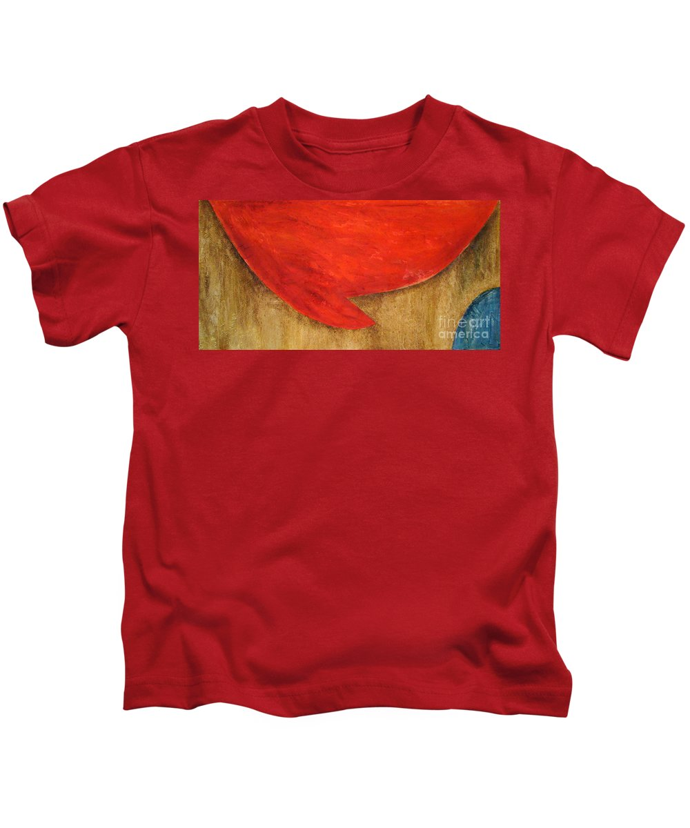 Modern Art Kids T-Shirt featuring the painting Hot Spot by Silvana Abel