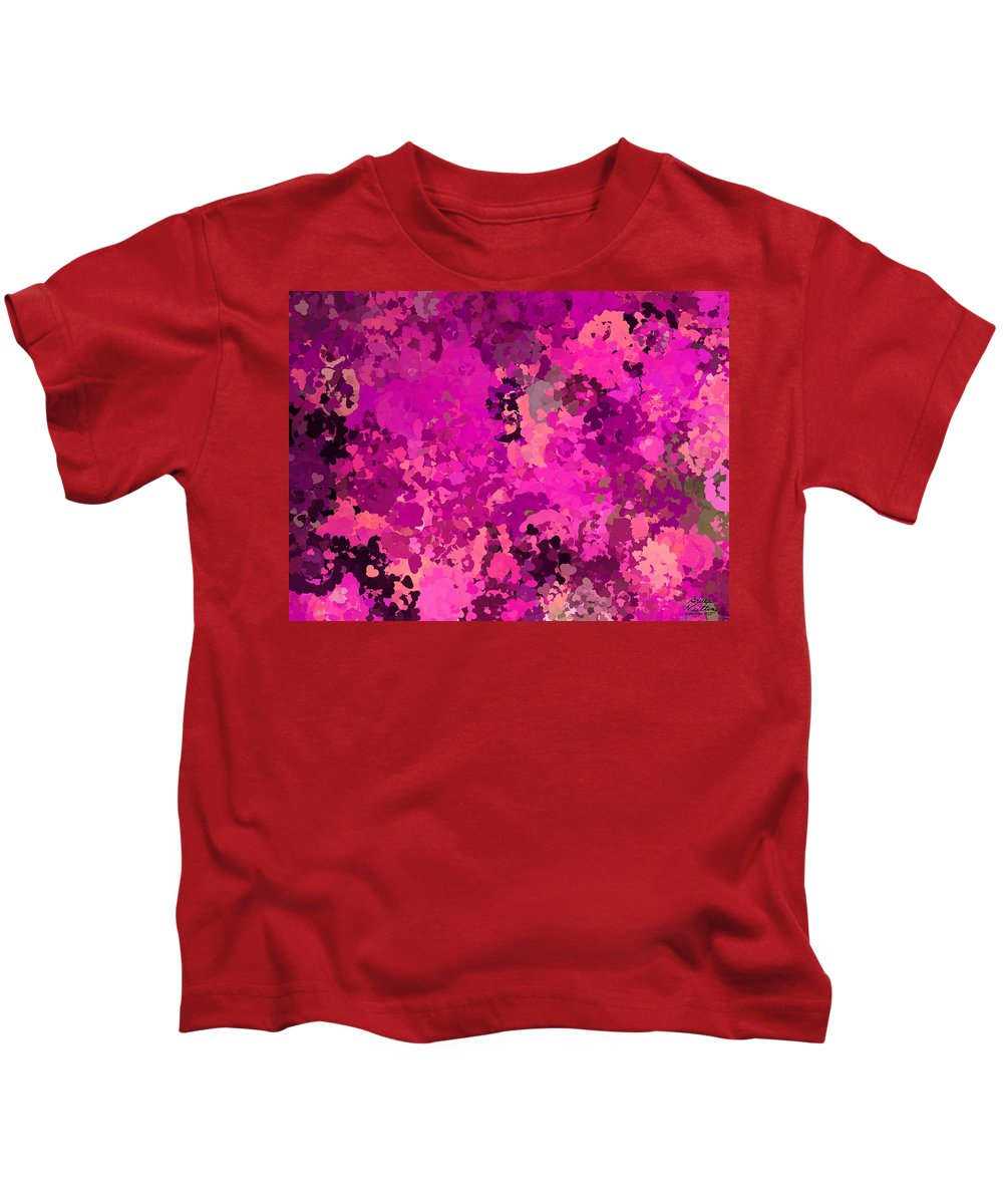 Pink Kids T-Shirt featuring the painting I Love Pink by Bruce Nutting