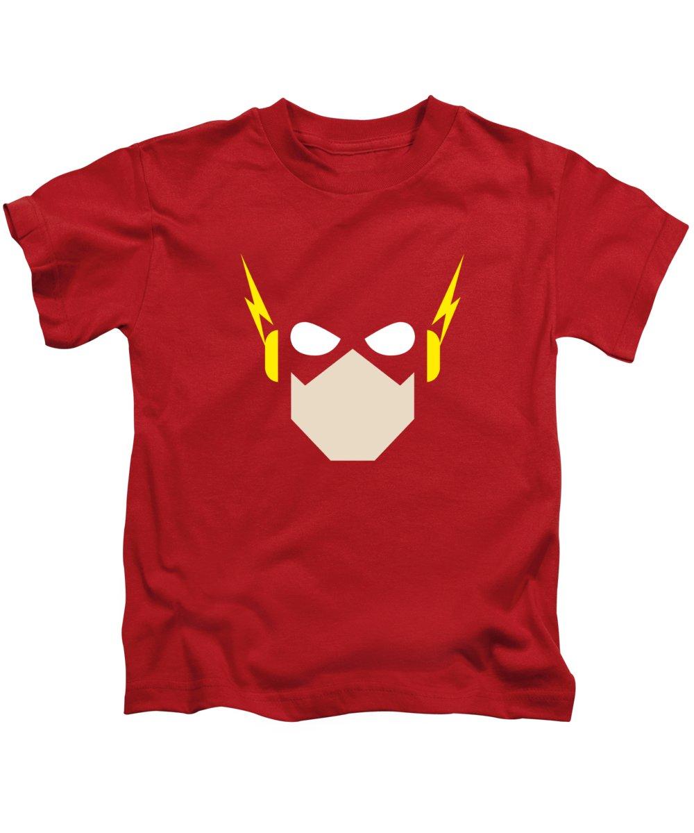Kids T-Shirt featuring the digital art Jla - Flash Head by Brand A