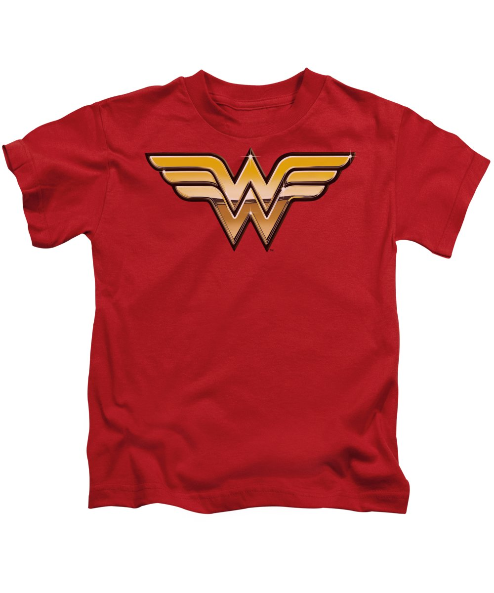 Justice League Of America Kids T-Shirt featuring the digital art Jla - Golden by Brand A