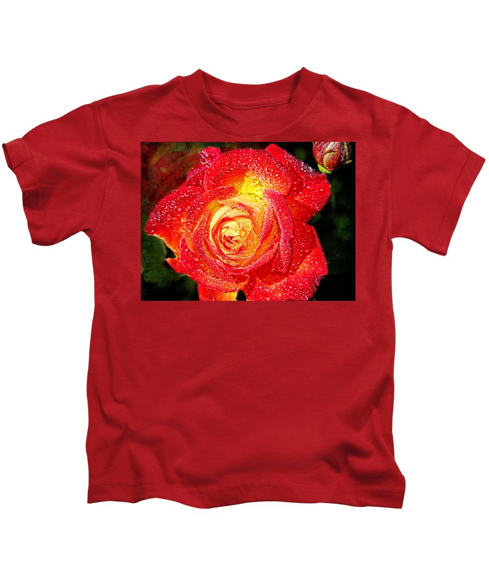 Unity Rose Kids T-Shirt featuring the photograph Joyful Rose by Mariola Bitner