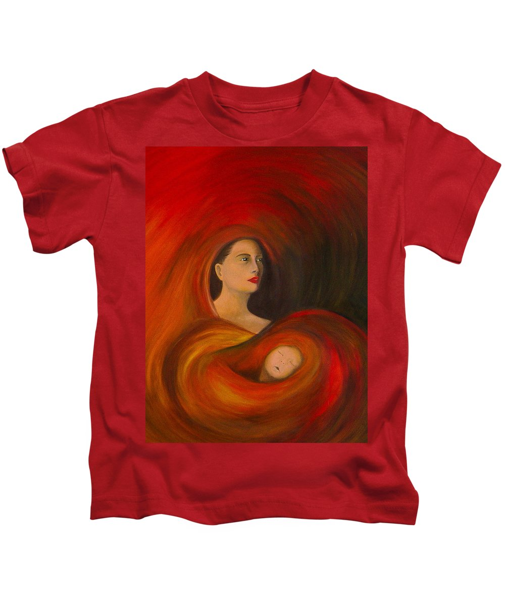 Verve Kids T-Shirt featuring the painting ..just Love.. by Fanny Diaz