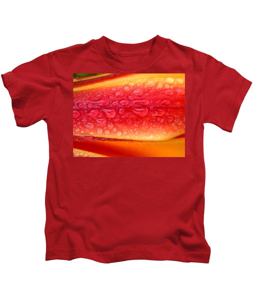 L. Anaconda Kids T-Shirt featuring the photograph Lilium Anaconda Rain by Cynthia Wallentine