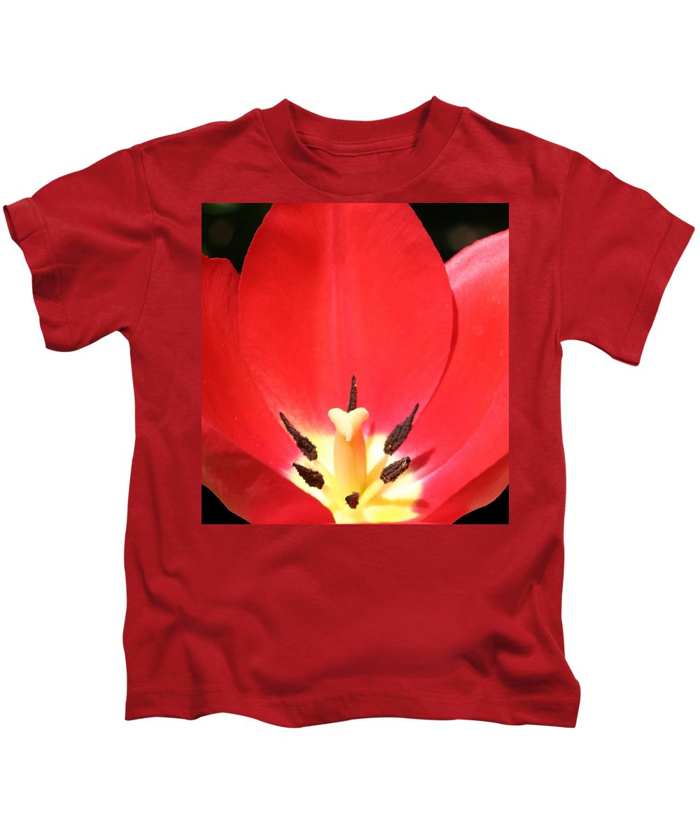 Flower Kids T-Shirt featuring the photograph Macro Tulip 2 by Barbara S Nickerson