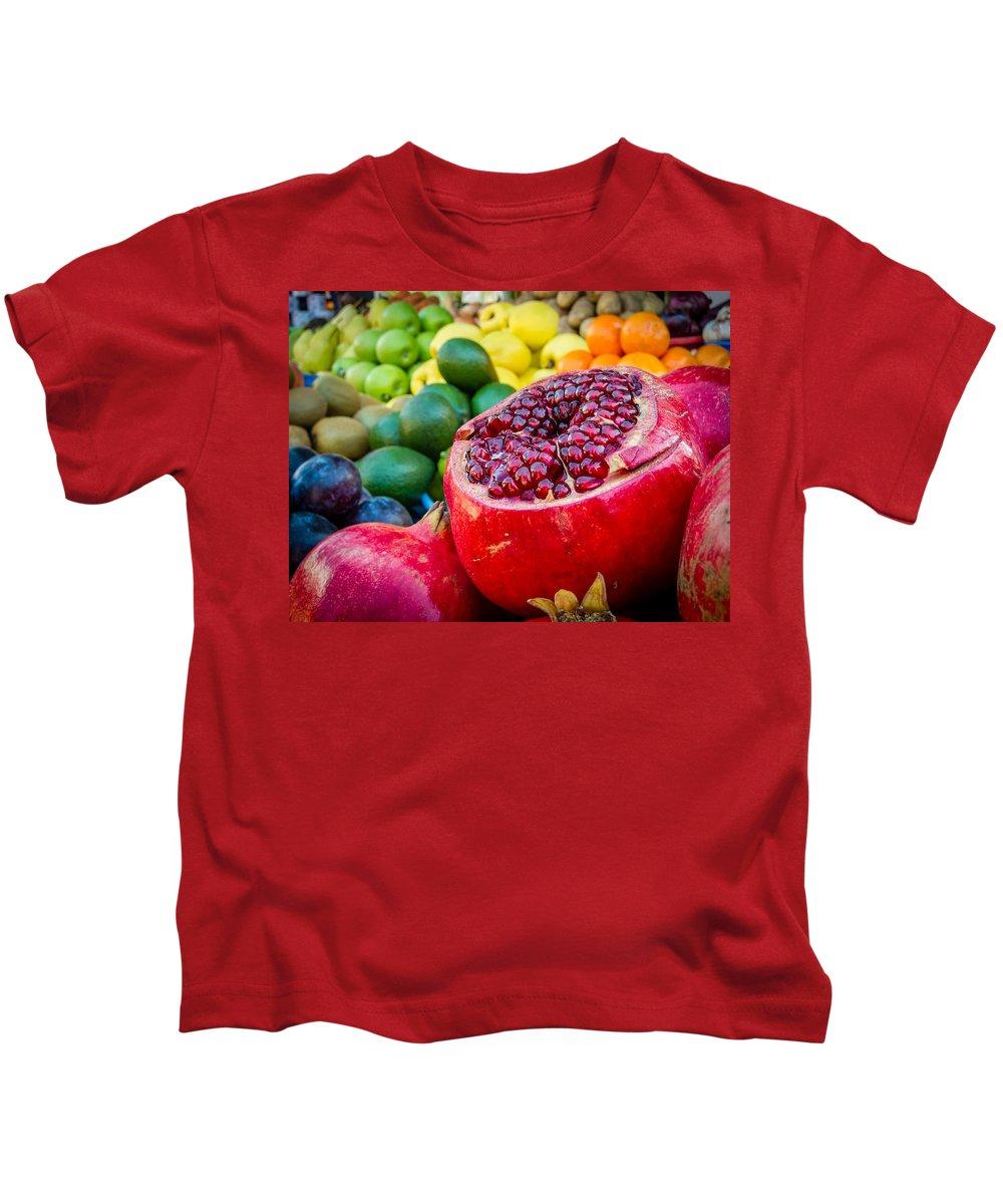Market Kids T-Shirt featuring the photograph Market Fresh by Alexey Stiop