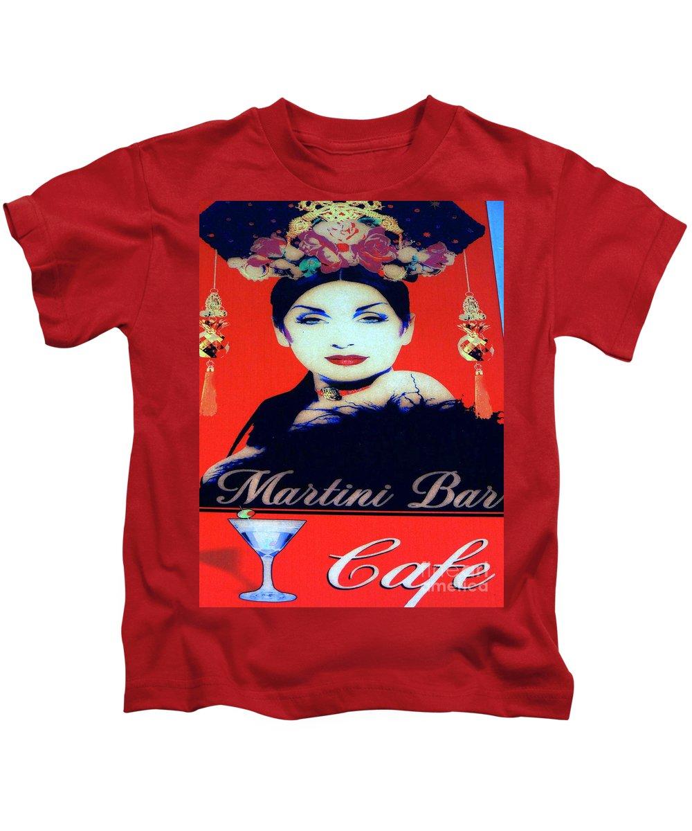 Sign Kids T-Shirt featuring the photograph Martini Bar by Ed Weidman