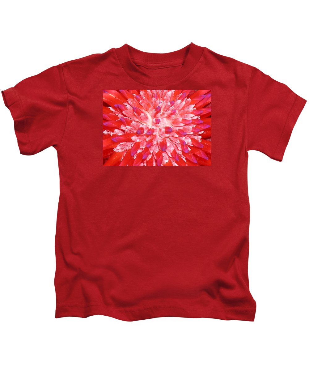 Hawaii Iphone Cases Kids T-Shirt featuring the photograph Molokai Bromeliad by James Temple