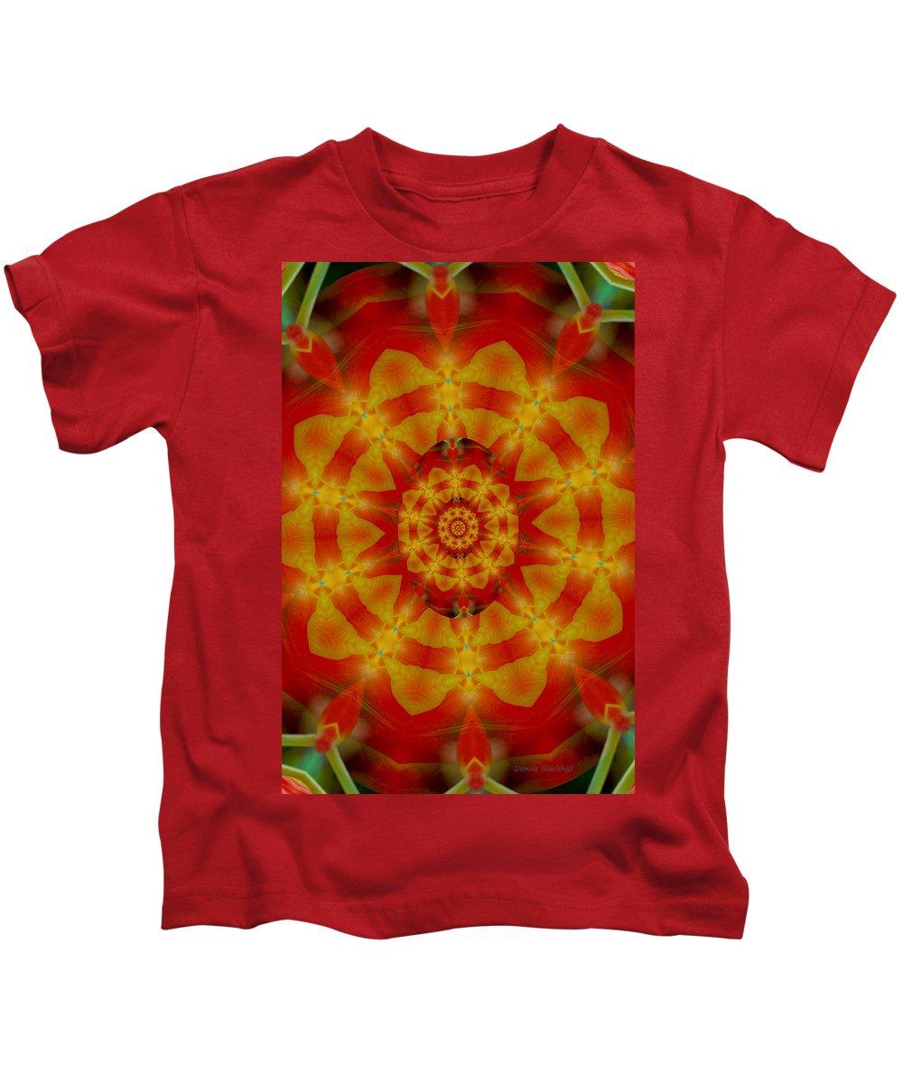 Digital Kids T-Shirt featuring the digital art Multitasking by Donna Blackhall
