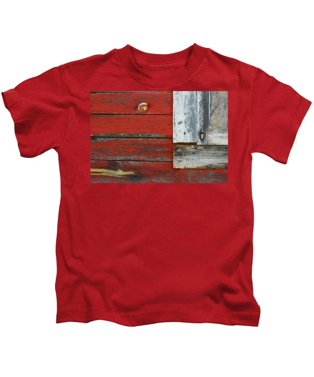 Window Kids T-Shirt featuring the photograph Old And Weathered by Tam Ryan