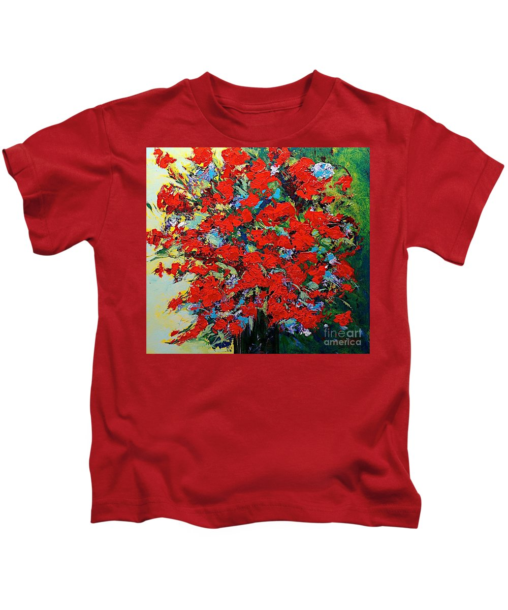 Landscape Kids T-Shirt featuring the painting One Of A Kind by Allan P Friedlander