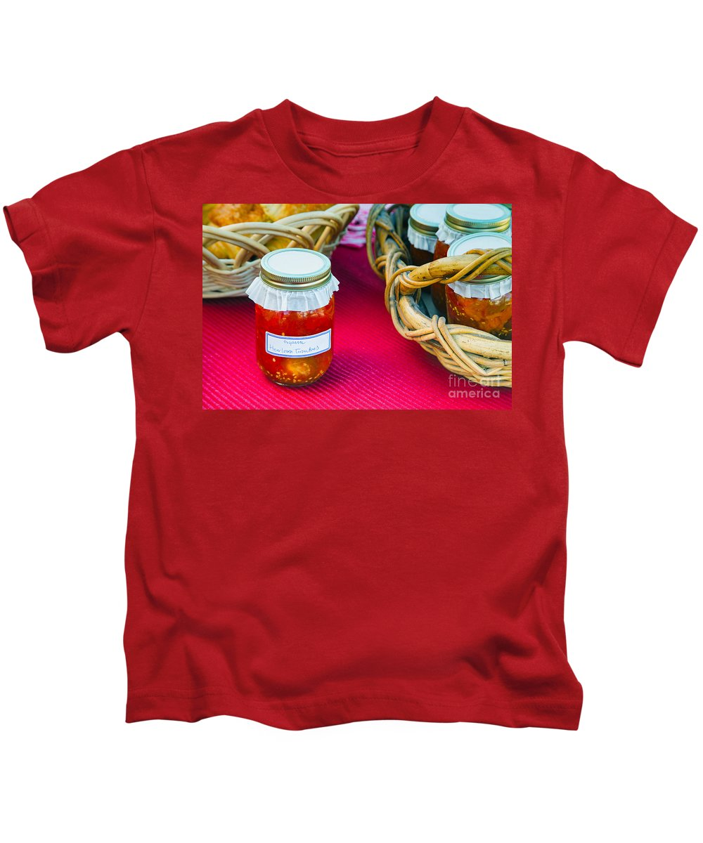 Tomatoes Kids T-Shirt featuring the photograph Organic Goodness by Mary Smyth