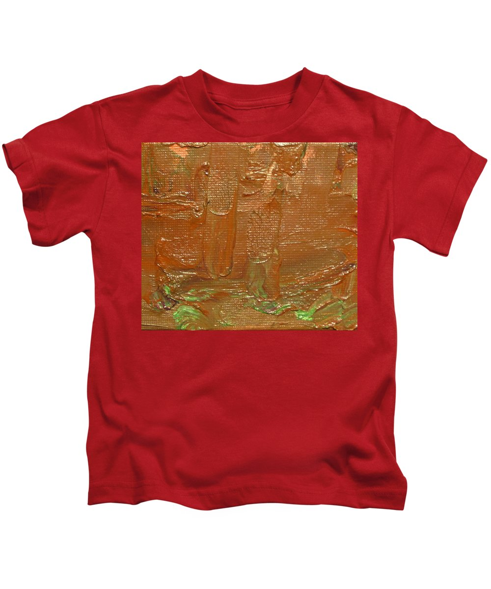 Abstract Kids T-Shirt featuring the painting Oxide I by Jeffrey Oleniacz