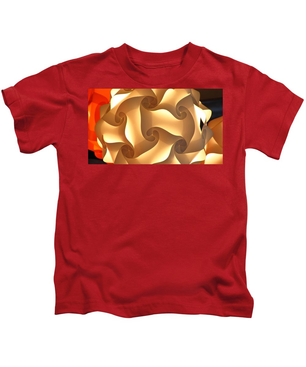 Geo Kids T-Shirt featuring the photograph Paper Lantern Abstract by Jennifer Wheatley Wolf