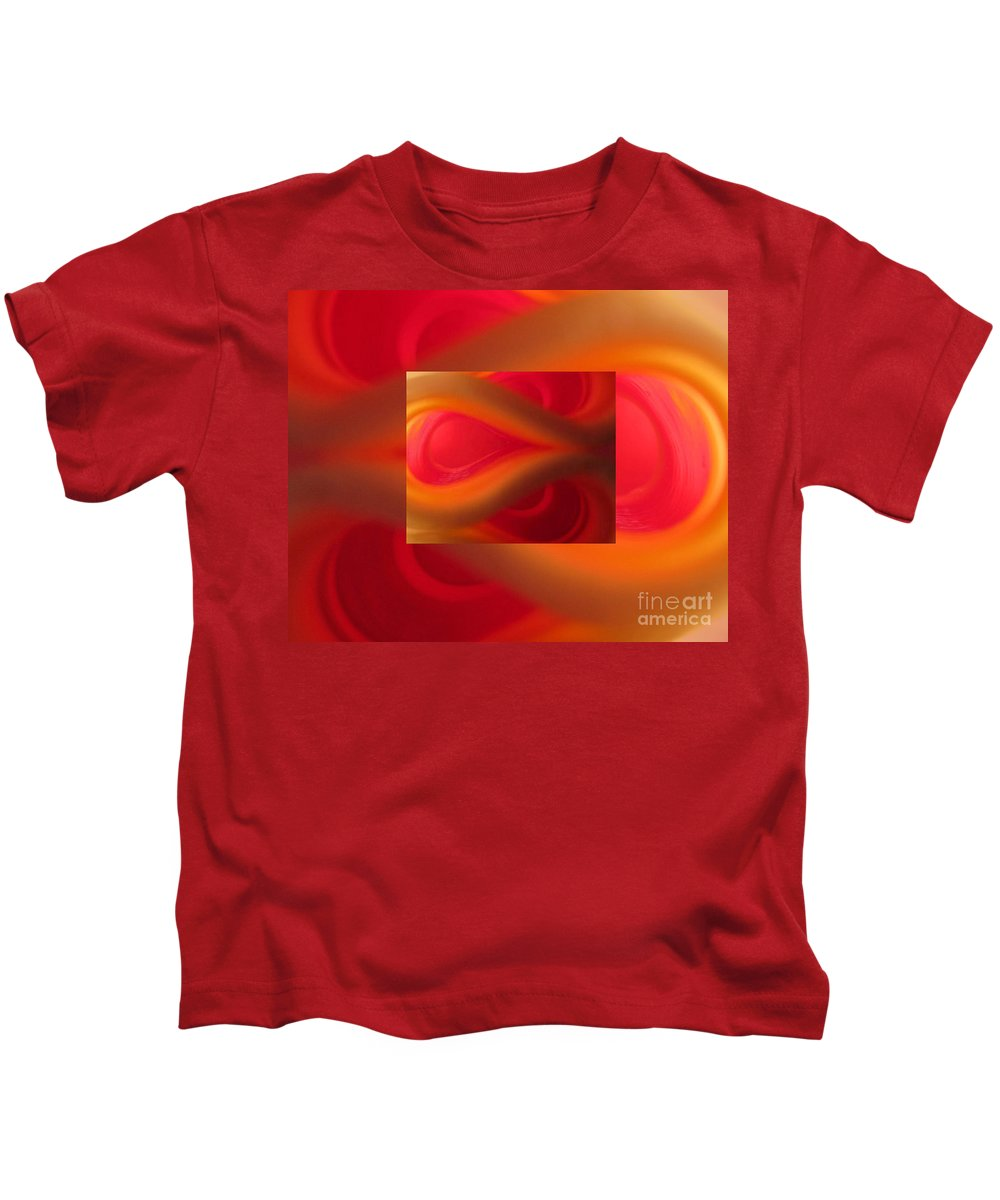 Passion Kids T-Shirt featuring the photograph Passion Abstract 02 by Ausra Huntington nee Paulauskaite