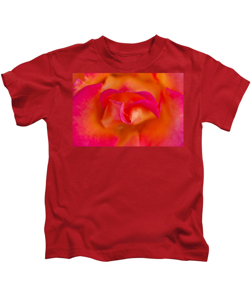 Rose Kids T-Shirt featuring the photograph Passion's Flower by Donna Blackhall
