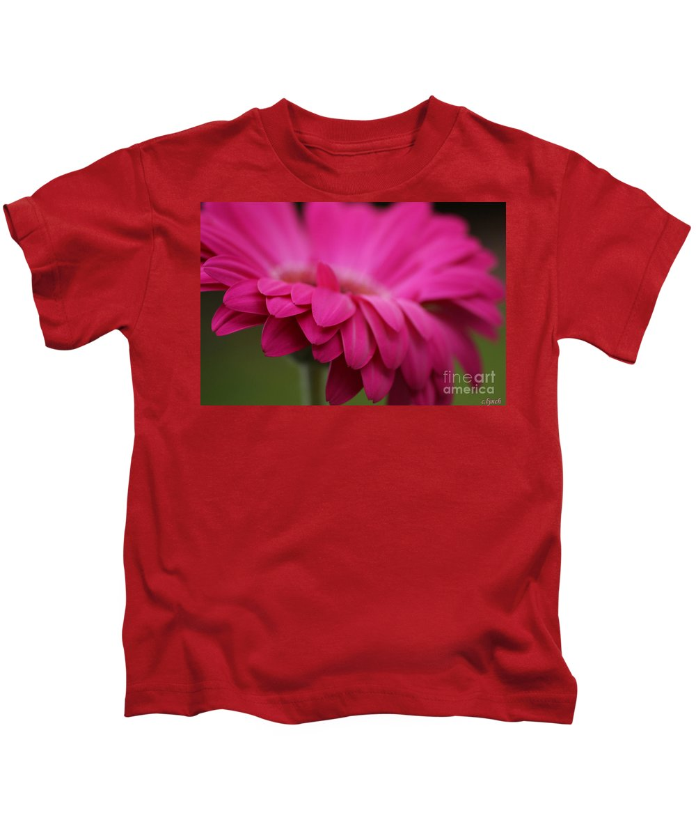Pink Kids T-Shirt featuring the photograph Petals Pink by Carol Lynch