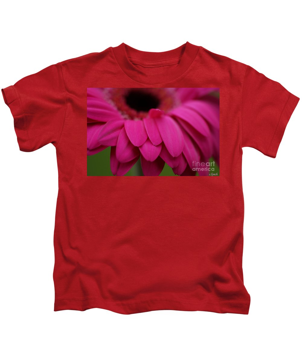 Pink Kids T-Shirt featuring the photograph Pink Petals by Carol Lynch