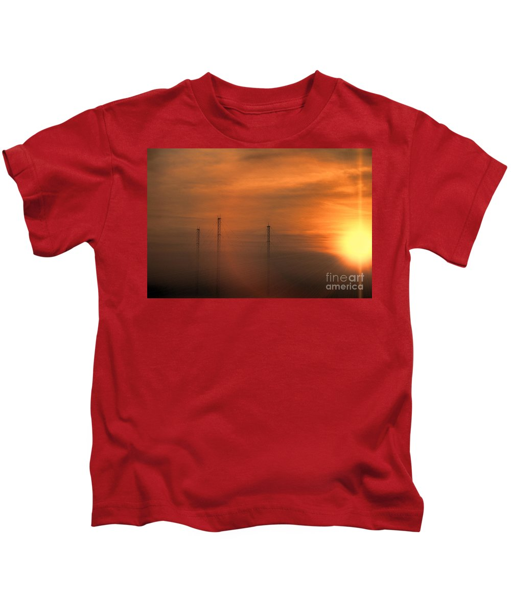 Radio Waves Kids T-Shirt featuring the photograph Radio Waves V2 by Douglas Barnard