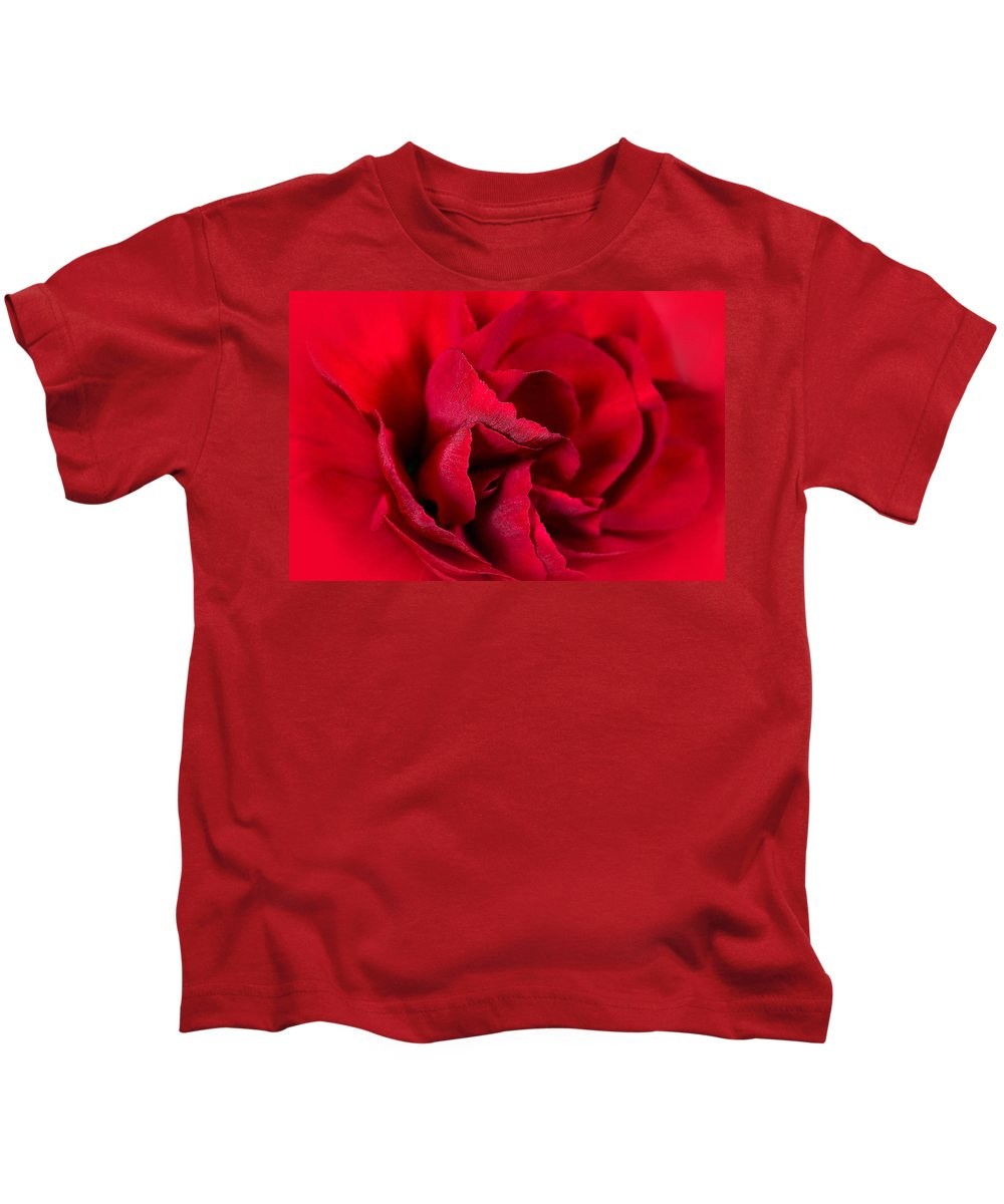 Red Kids T-Shirt featuring the photograph Red Carnation by Nadine Lewis