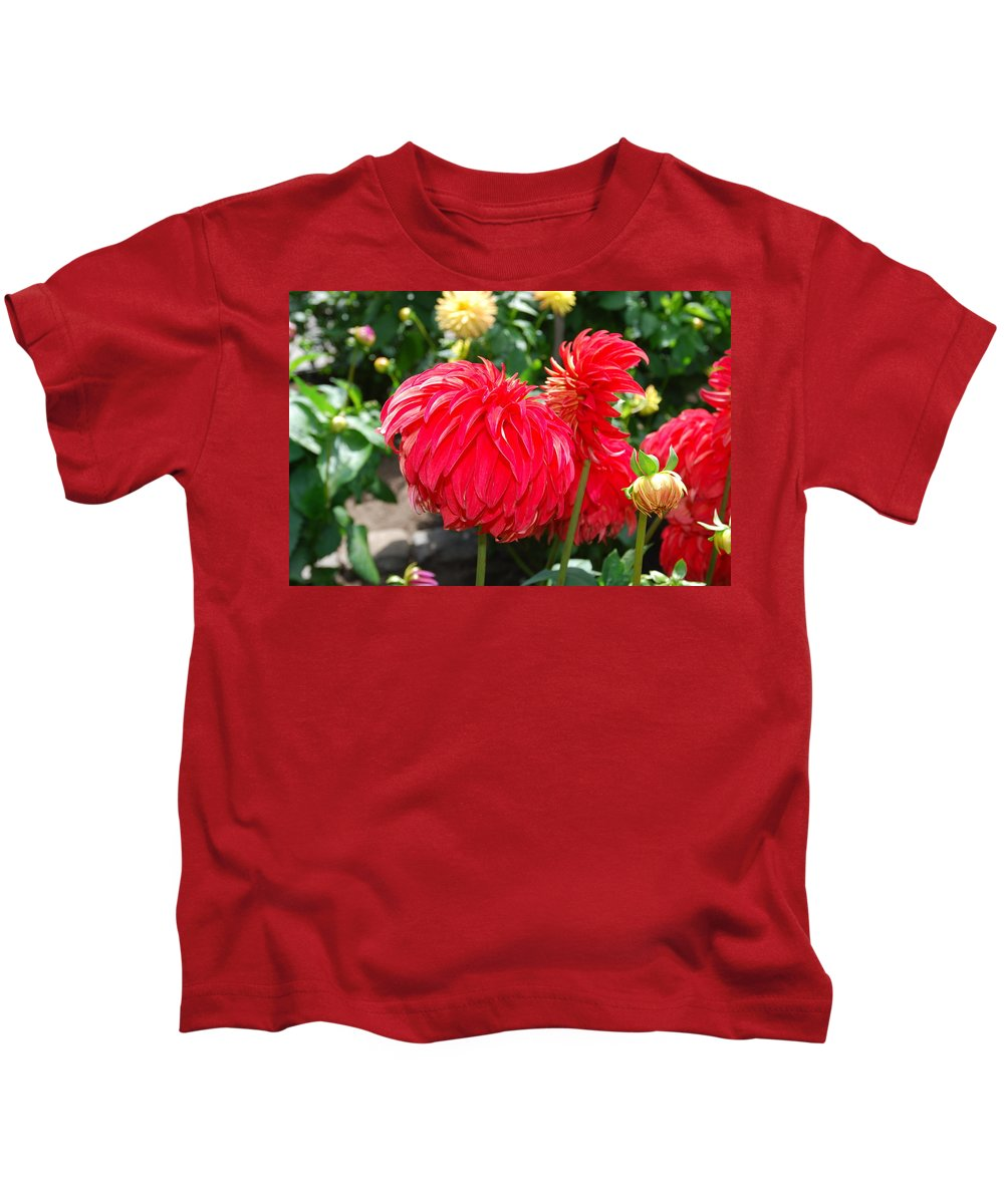 Red Kids T-Shirt featuring the photograph Red Flower by Bradley Bennett