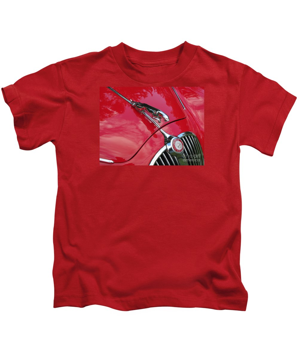 Jaguar Kids T-Shirt featuring the photograph Red Jaguar 3.8 by Neil Zimmerman