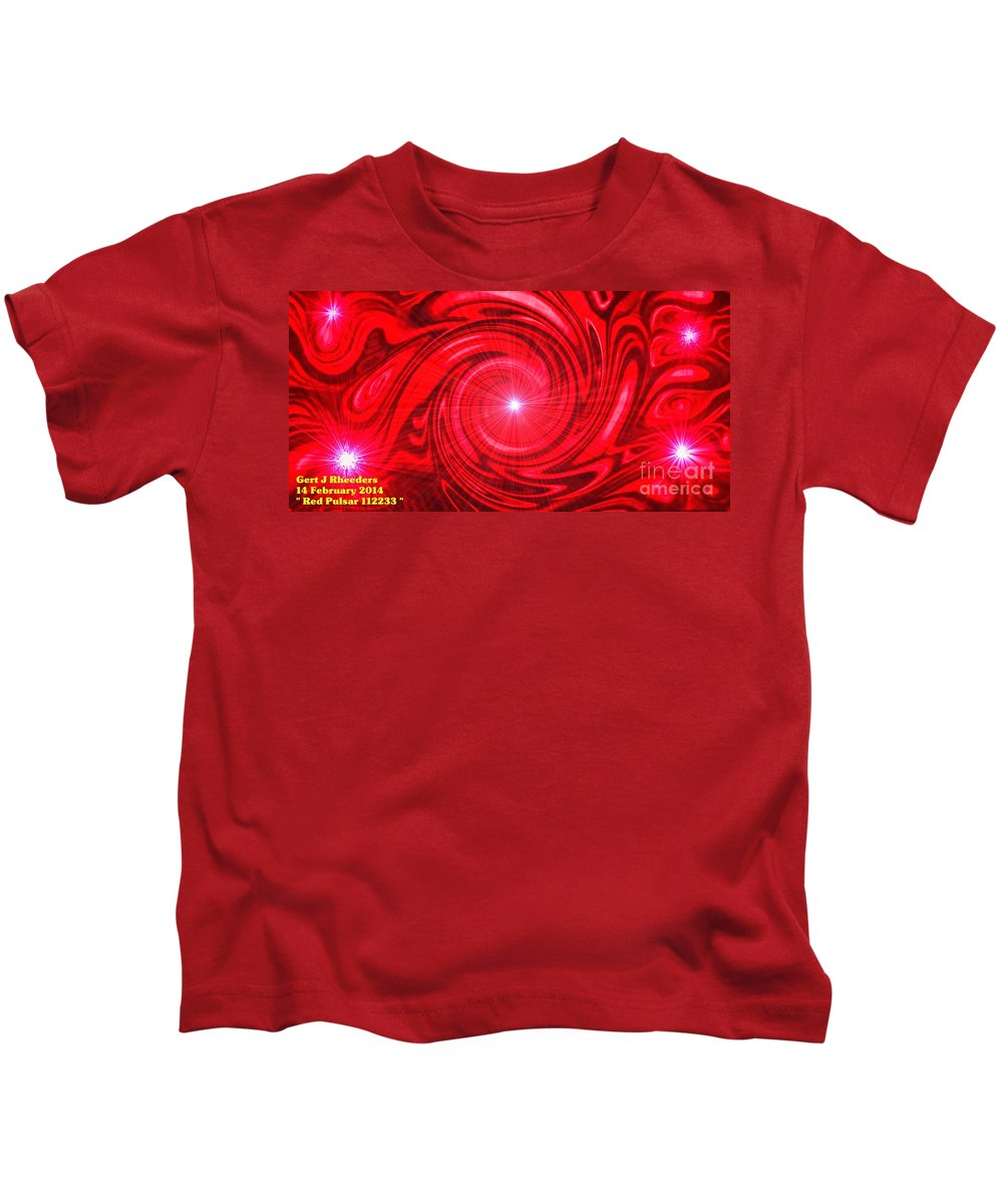 Landscape Kids T-Shirt featuring the painting Red Pulsar 112233 by Gert J Rheeders