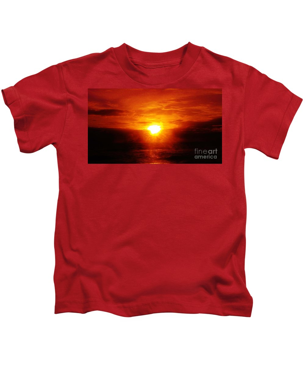 Kerisart Kids T-Shirt featuring the photograph Red River by Keri West