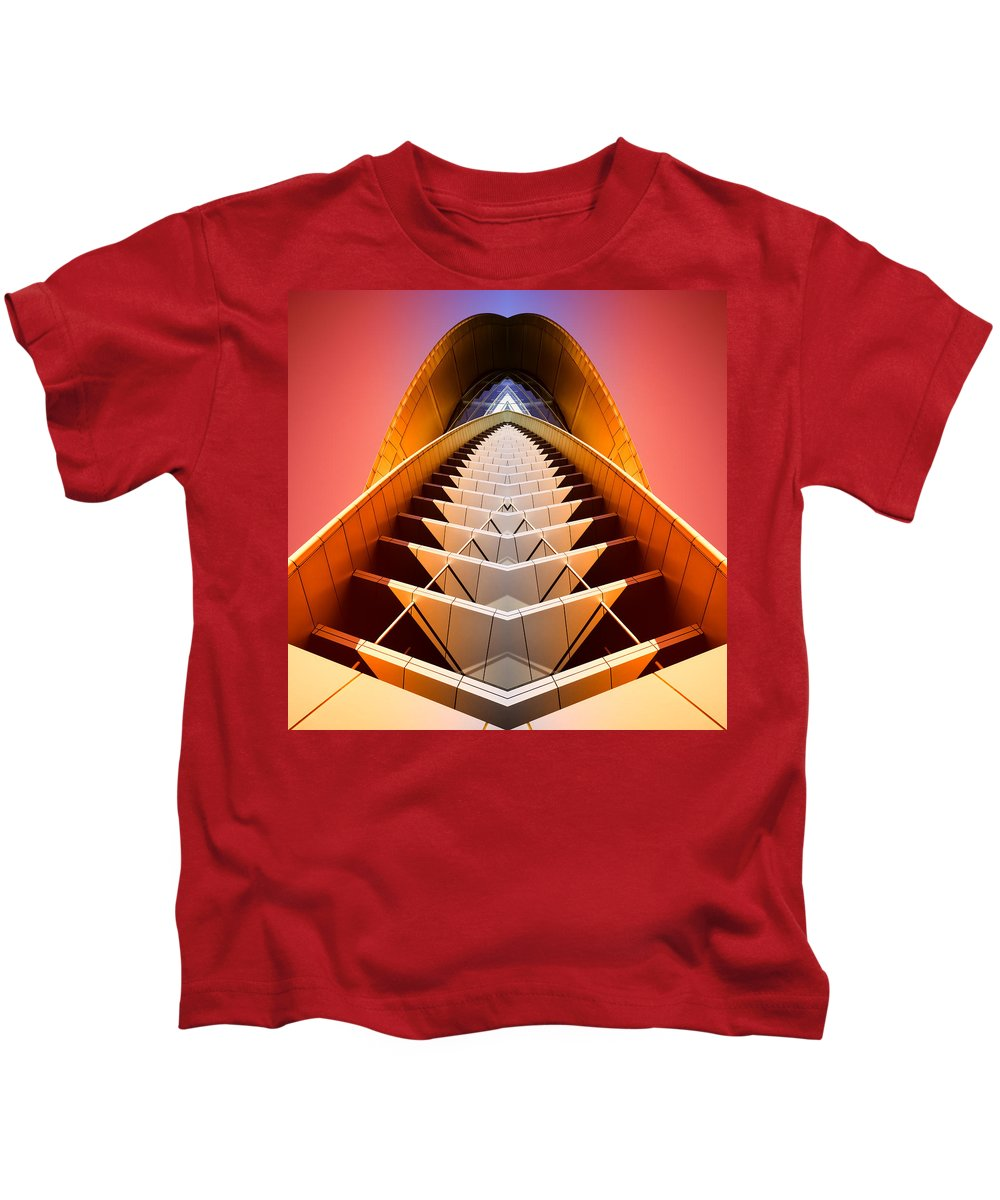 Abstract Kids T-Shirt featuring the photograph Red Shift by Wayne Sherriff