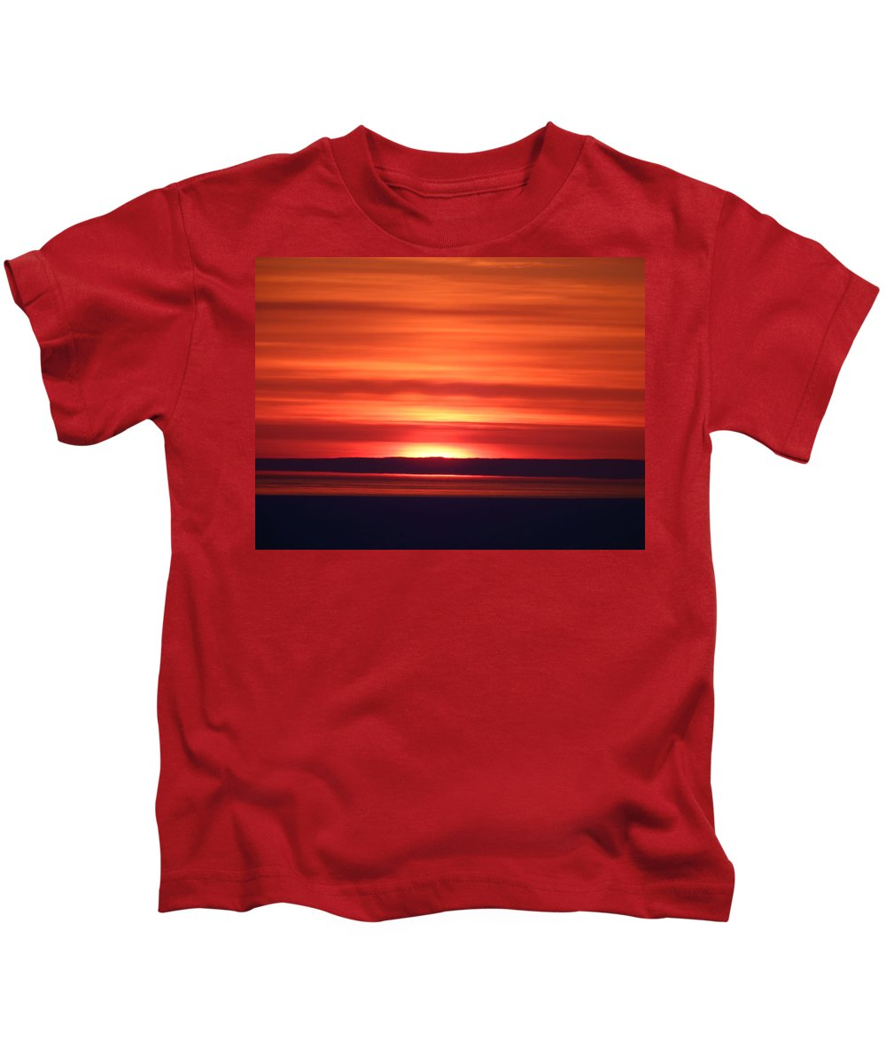 Sunrise Kids T-Shirt featuring the photograph Red Sky Morning by Alison Gimpel