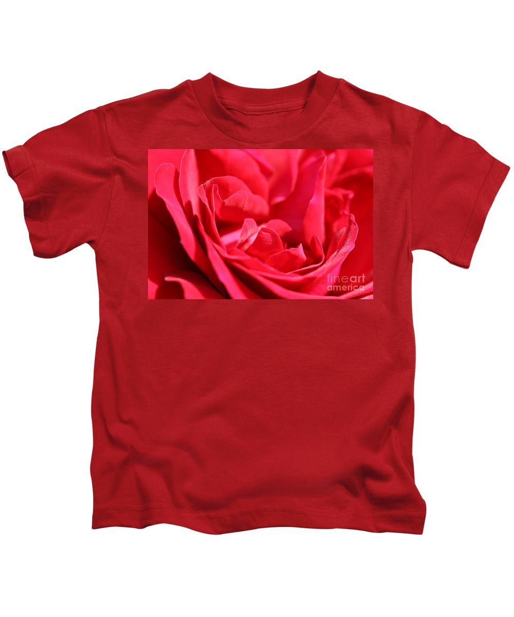 Rose Kids T-Shirt featuring the photograph Rose Abstract by Christiane Schulze Art And Photography