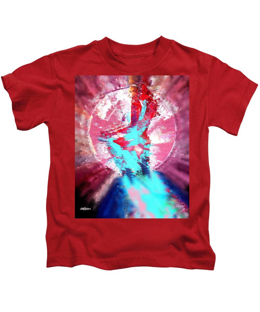 Ruby Kids T-Shirt featuring the digital art Ruby by Seth Weaver